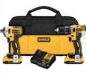 DeWalt 20V MAX XR Li-Ion Brushless Drill & Impact Driver Kit