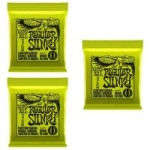 3-Pk Ernie Ball Guitar Strings: Regular or Super Slinky Electric Guitar Strings