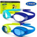 2-Pack OutdoorMaster Kids UV Swim Goggles