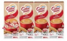 4-Pack of 50-Count Nestle Coffee-mate Coffee Creamer Singles (Original)