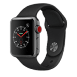 Apple Watch Series 3 GPS Smartwatch (White or Space Gray 38mm Aluminum Case)