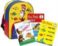 Choice of 3 Dr. Seuss Hardcover Books + Dr. Seuss Bookbag