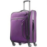 "25"" American Tourister Expandable Softside Spinner Luggage: Black $44 Purple"