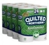 Quilted Northern EcoComfort Toilet Paper (24 Mega Size Rolls, 308 Sheets/Roll) $16.48