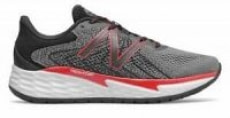 New Balance Men's Fresh Foam Evare Shoes (Grey w/ Red D or 4E)