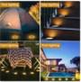 Aogist Solar Ground Lights8 LED Garden Lights Waterproof Patio Outdoor Light with Light Sensor $14.29+free Shipping