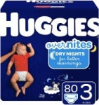 Buy 2 Select Diapers, Get $10 Off: 80-Ct Huggies OverNites Diapers (Size 3)