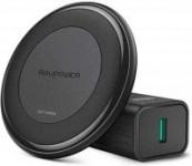 RAVPower 10W Fast Wireless Charging Pad w/ QC 3.0 Adapter