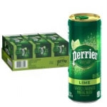 30-Count 8.45oz Perrier Carbonated Mineral Water (Lime)