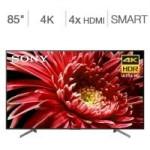 Costco Members: 85″ Sony XBR85X850G/C Motionflow XR 960 4K HDR Smart TV