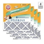 4-Pack Arm & Hammer Enhanced Allergen & Odor Control FPR 6 Air Filters