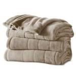 Sunbeam Heated Electric Microplush Blanket: King $30 Queen $26 Full