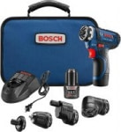 Bosch 12V Flexiclick 5-In-1 Cordless Multi-Head Electric Screwdriver Drill Set