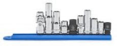 10-Piece Gearwrench 1/4″ & 3/8″ Drive 6-Point 10mm Socket Set