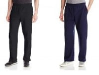 2-Pack Fruit of the Loom Men's Fleece Sweatpants (Black/Navy M or 3XL)